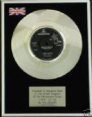 "THE HOLLIES  7"" Platinum Disc -  I CANT LET GO"
